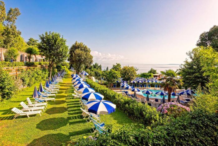 Castiglione Thermal Park pool and gardens