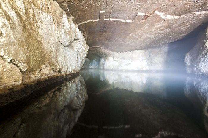 Roman cave with thermal water