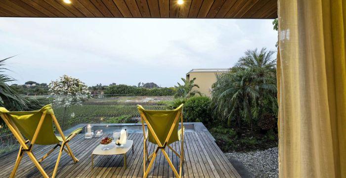Donna Carmela Romantic Lodge terrace and view