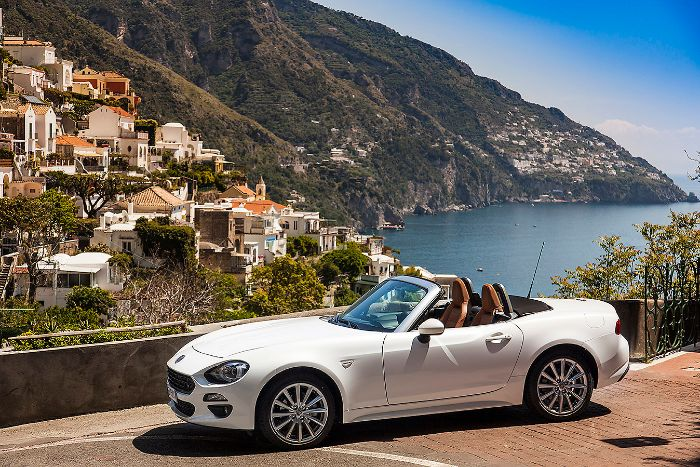 Amalfi Coast convertible car